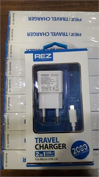 REZ TRAVEL CHARGER 2000MAH 2in1 USB+DATA CABLE